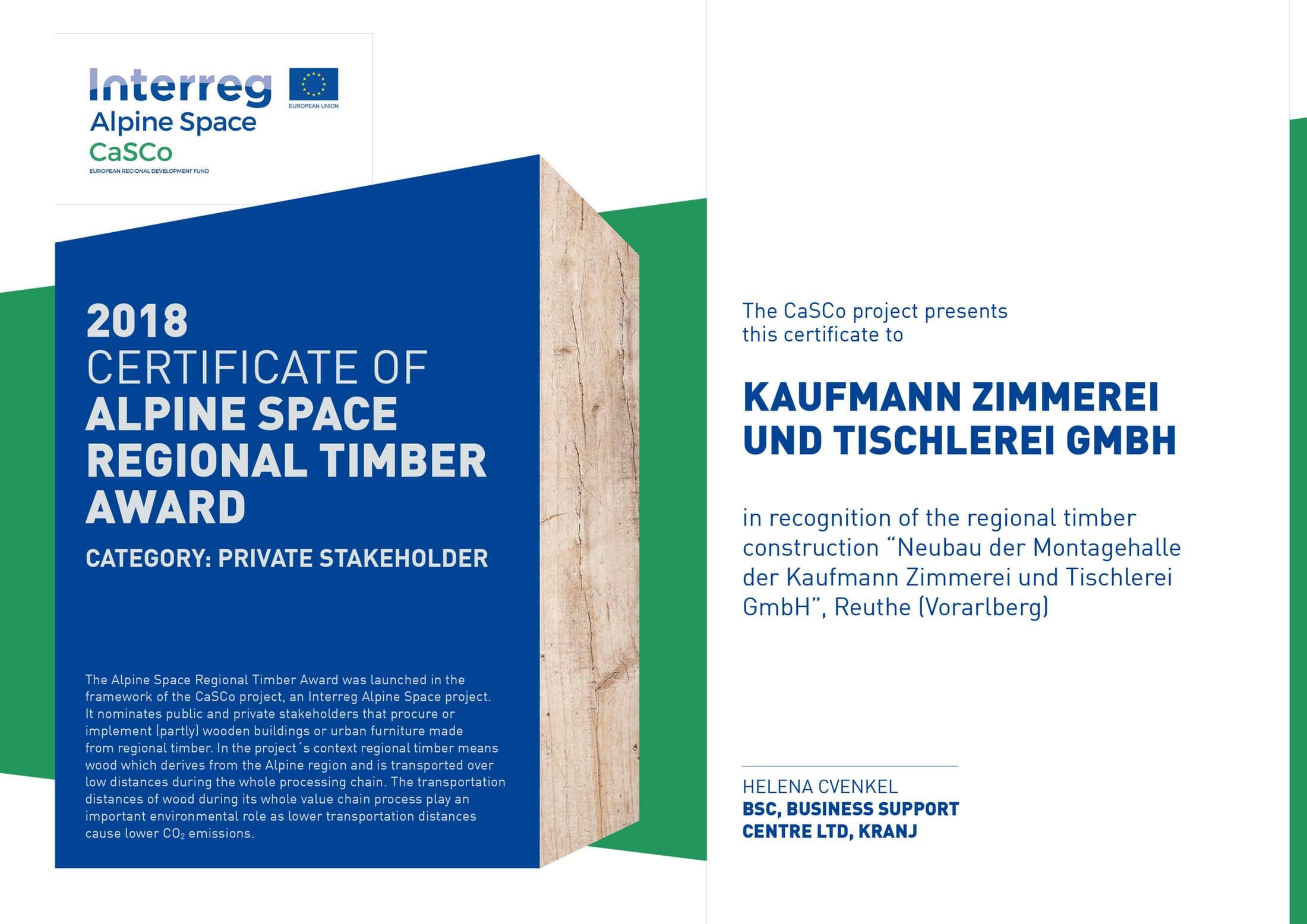 Kaufmann Erhält Holzpreis Für Klimafreundliches Bauen Im Alpenraum